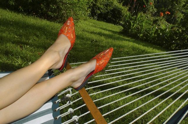 Hammock lounge summer, beauty fashion.