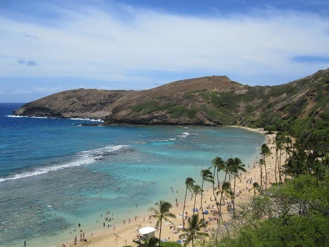 Hanauma bay hawaii beach, travel vacation.