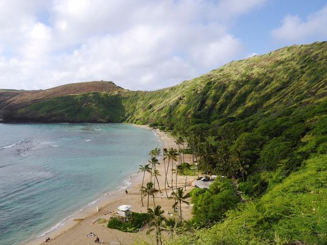 Hanauma beach hawaii, travel vacation.
