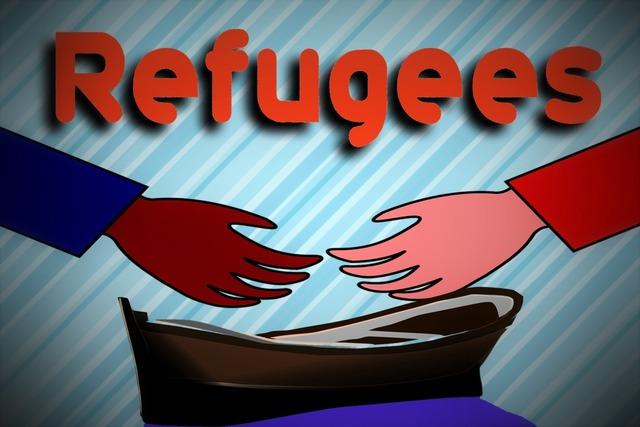 Hand boot refugee.