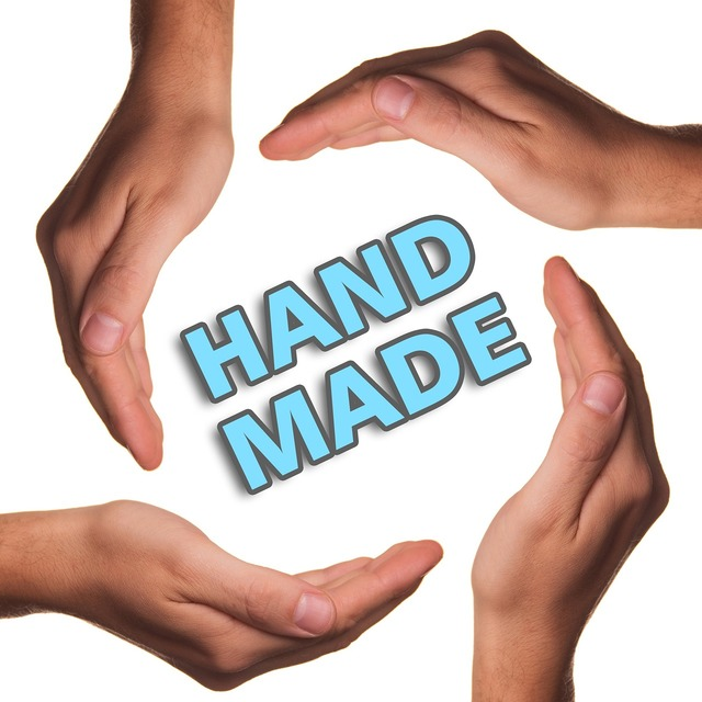 Hand made hands product.