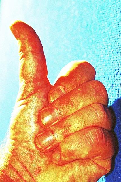 Hand thumb thumbs up.