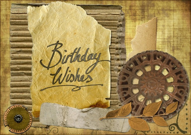 Happy birthday greeting card, emotions.