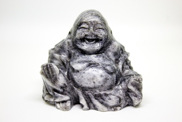 Happy buddha sculpture jade, religion.