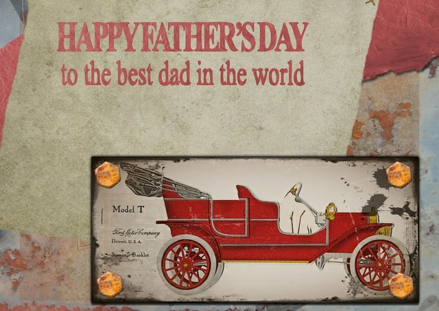 Happy father's day greeting card, emotions.