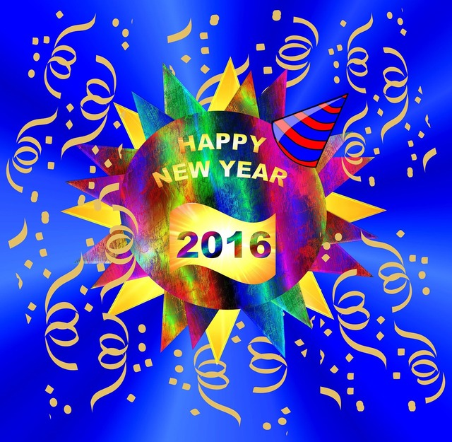 Happy new year's celebration party, health medical.