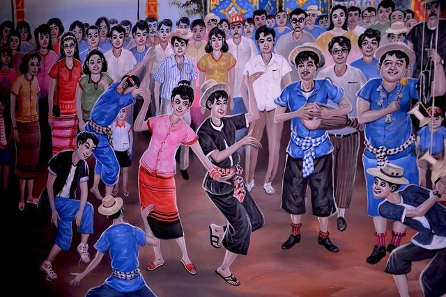 Happy people dancing fun, people.