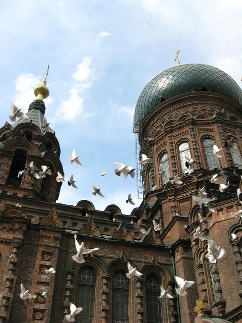 Harbin sofia church building, architecture buildings.