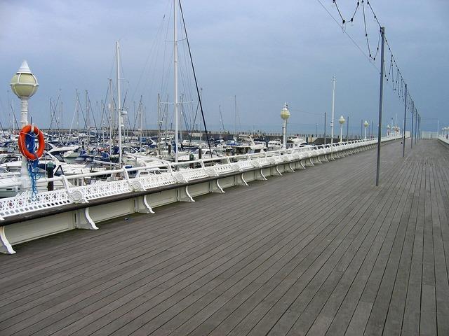 Harbor boats sea, travel vacation.