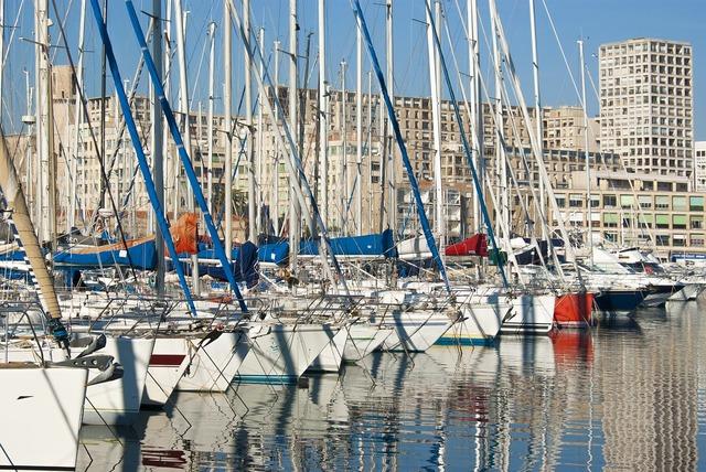 Harbor port sailboat.