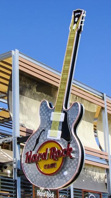 Hard rock café guitar tourism, travel vacation.