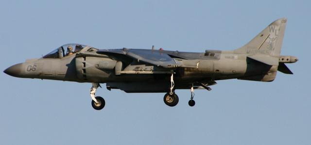 Harrier plane jet.