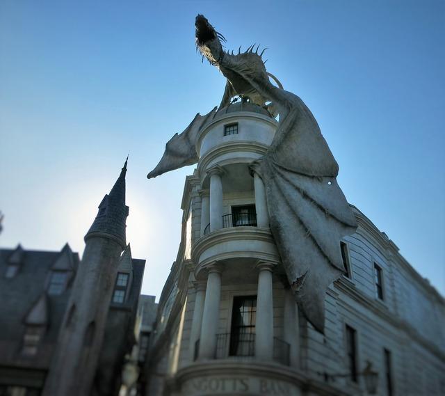 Harry potter gringotts dragon.