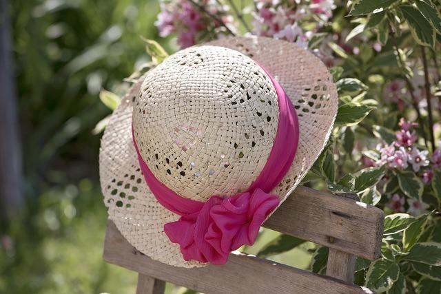 Hat summer hat summer, beauty fashion.