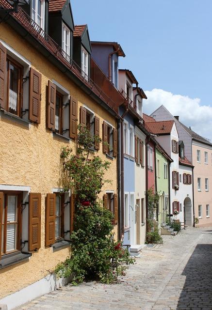 Hausfasade old building freising.