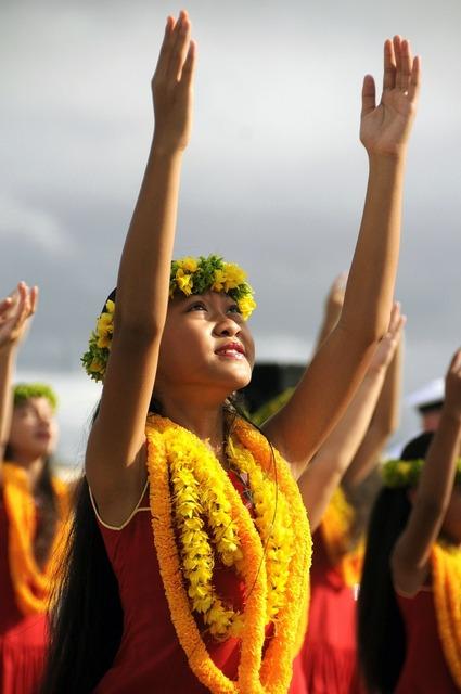 Hawaii dance girl, sports.