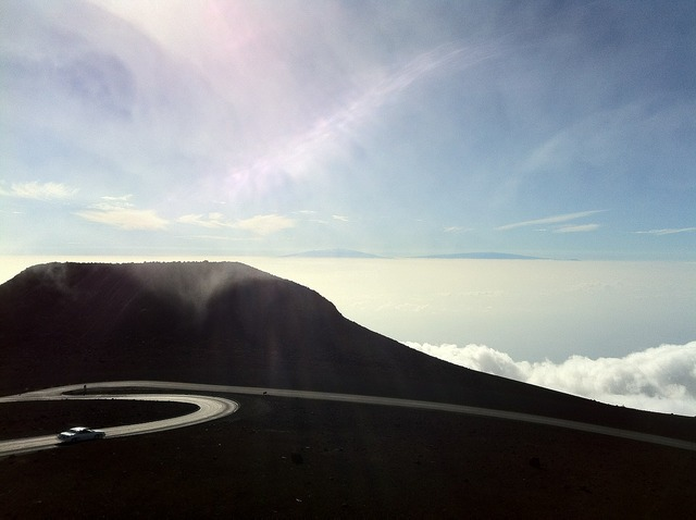 Hawaii mountain road, nature landscapes.