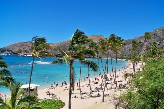 Hawaii sea bay, travel vacation.