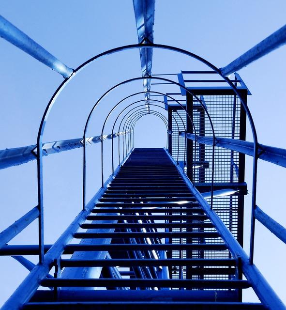 Head blue steel, architecture buildings.