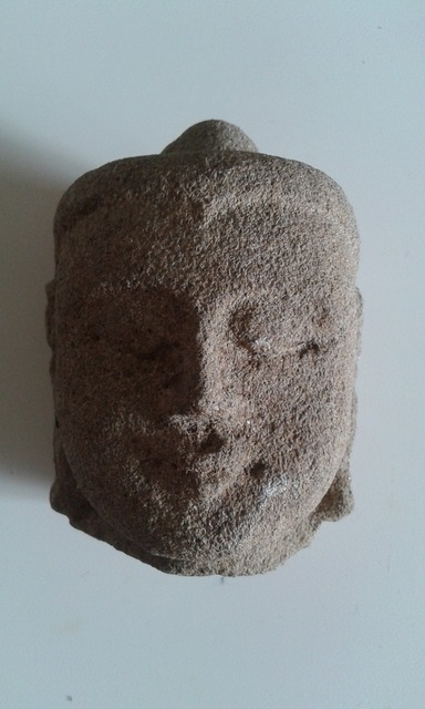 Head sculpture east.