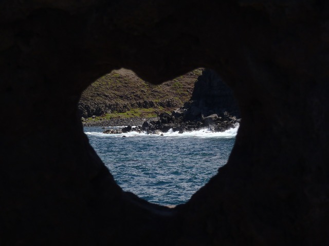 Heart beach maui, travel vacation.