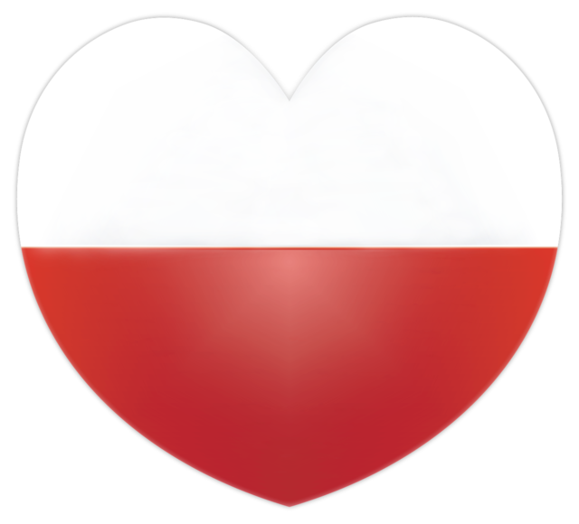 Heart flag poland.