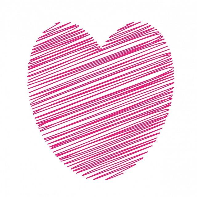 Heart pink art, backgrounds textures.
