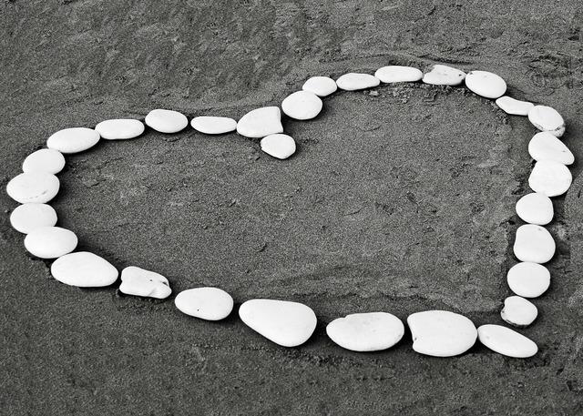 Heart sand stone, travel vacation.