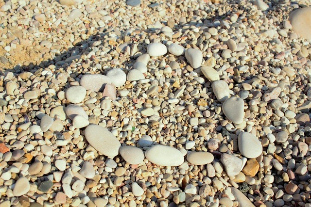 Heart stone sea, travel vacation.