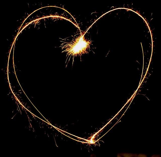 Heart sylvester fireworks, emotions.