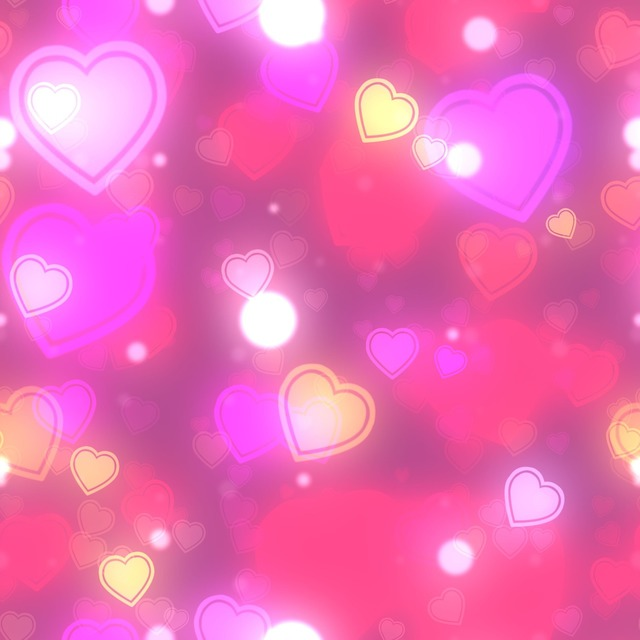 Hearts bokeh background, backgrounds textures.