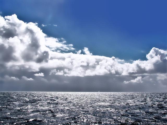 Heaven sky-blue horizon.