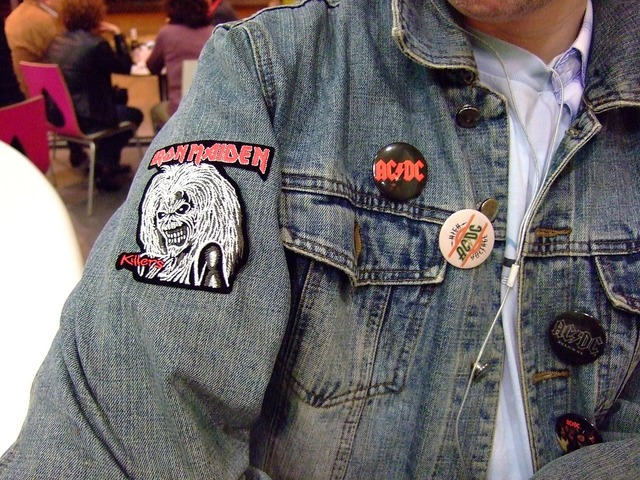 Heavy metal veneers jeans, music.