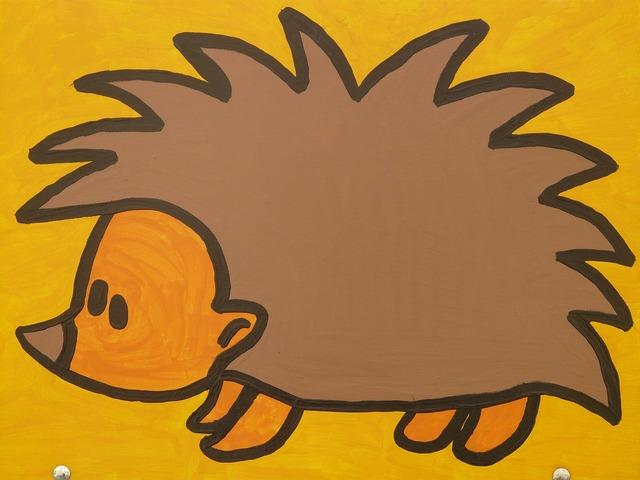 Hedgehog cartoon character drawing, animals.
