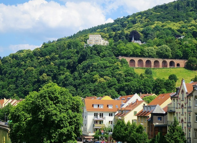 Heidelberg castle fortress, architecture buildings.