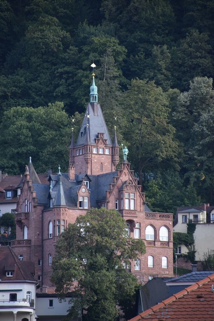 Heidelberg church building, religion.