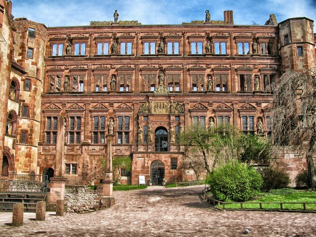 Heidelberg germany castle, architecture buildings.