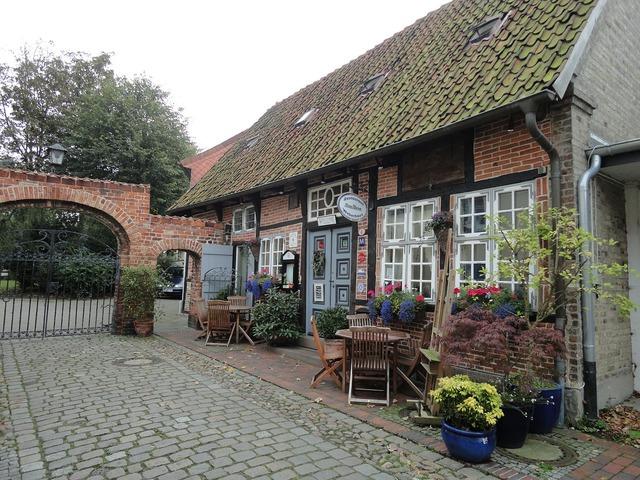 Heiligenhafen baltic sea old houses.