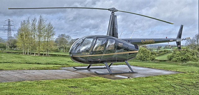 Helicopter aviation robinson.