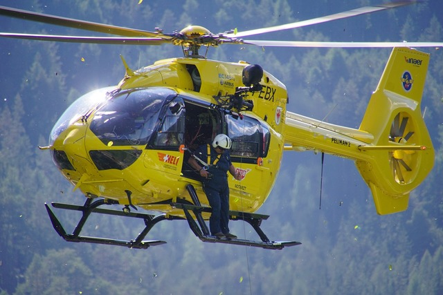 Helicopter civil protection pelikan, health medical.