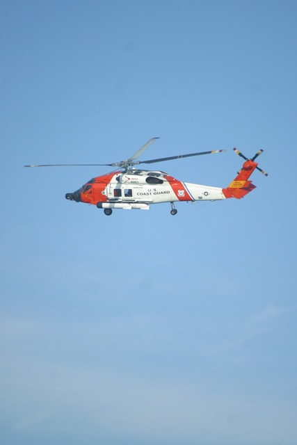 Helicopter coast guard rescue.