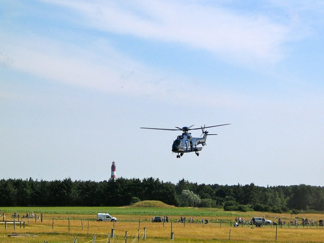 Helicopter fly air transports.