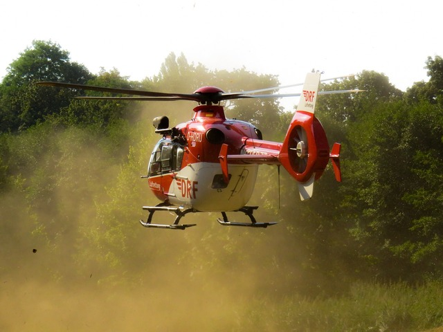 Helicopter fly rescue.