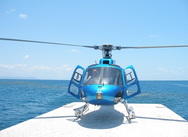 Helicopter great barrier reef australia.