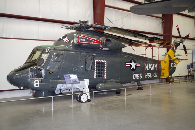 Helicopter navy museum.