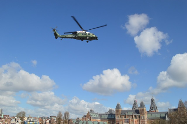 Helicopter obama amsterdam.