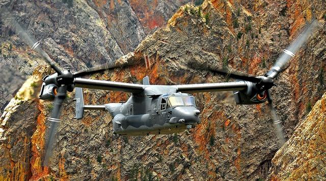 Helicopter osprey cv-22.