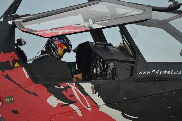 Helicopter pilot red-bull.