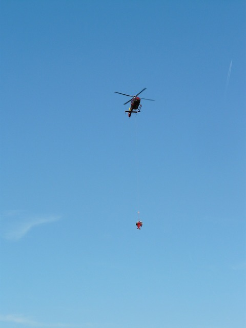 Helicopter rescue mountain rescue.