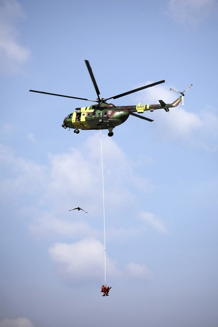 Helicopter rope load.
